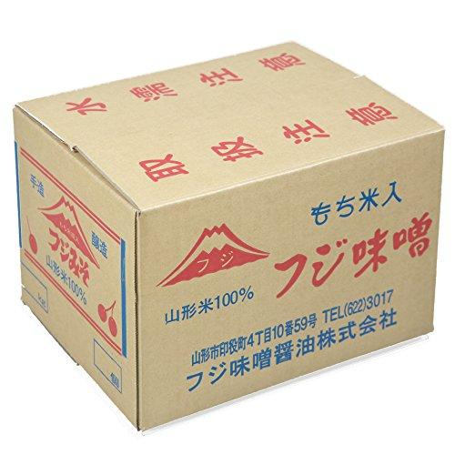 山形県産米ササニシキと国産丸大豆使用・特上味噌(つぶ)(10kg)入り・もち米麹入り麹歩合150の最高級味噌