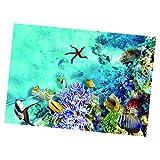 joyMerit 1 Piezas 3D PVC Acuario Pecera Submarina Telón De Fondo Imagen Decoración 3 Tamaños - r