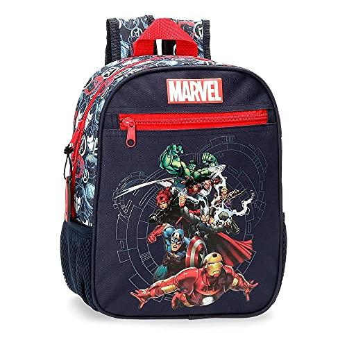 Marvel Los Vengadores Avengers Team Mochila Adaptable Azul 23x28x10 cms Poliéster 6,44L