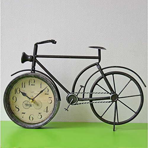 LTOOD modellen Amerikaanse retro fiets klok muur klok Home office pointer wandklok 35 * 35Black14 inch
