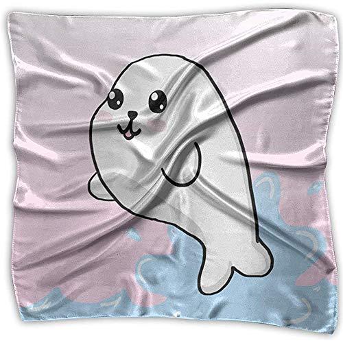 Bufanda cuadrada Bufandas lindas de foca bebé Unisex diadema corbata para mujer