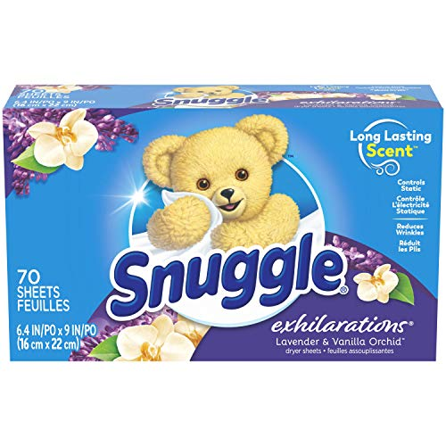 Snuggle Exhilarations Fabric Softener Dryer Sheets, Lavender & Vanilla Orchid, 70 Count