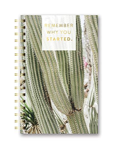 Caderno espiral de capa dura média da Studio Oh! – Lembre-se de porque você começou – 14,6 x 22,2 cm – Encadernação de arame durável, capa dura de arte colorida e 160 páginas pautadas