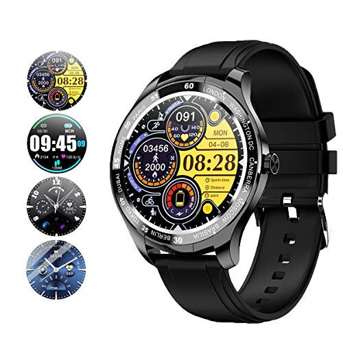 kuoleopa Smart Watch for Men Women,IP67 Swimming Waterproof Smartwatch for Android Phones and iOS Phones Compatible iPhone Samsung, Fitness Tracker with Heart Rate,Blood Pressure,Sleep Tracker(Black)