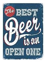 最高のビール缶サインヴィンテージノベルティ面白い鉄の絵の具金属板