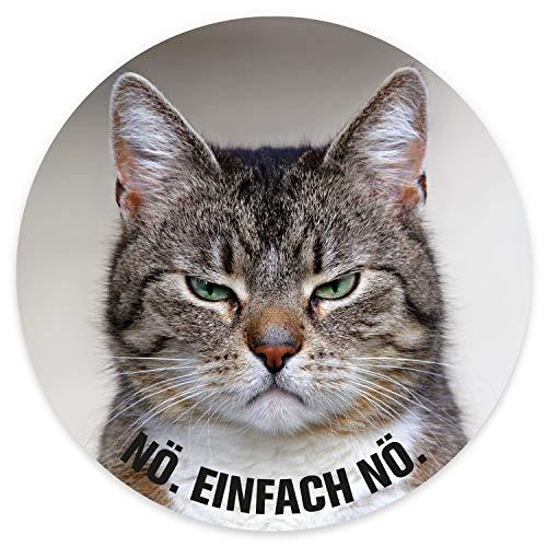 Stickers kat I rond Ø 10 cm nee. Gewoon nodig.