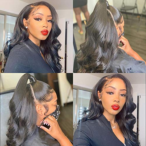 13x4 Body Wave Lace Front Human Hair Wig 150% Density For Black Women Brazilian Lace Front Wigs Human Hair With Baby Hair Unprocessed Remy Human Hair Wigs 10 A Remy Body Wave Human Hair .