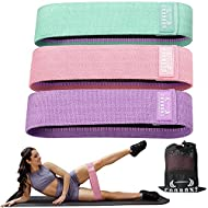Resistance Bands for Legs and Butt - Exercise Bands Hip Bands Workout Bands Booty Fitness Bands, Glute Bands for Women and Men,Elastic Strength Squat Band, Non Slip