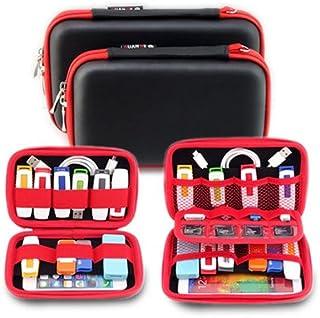 Electronics Accessories Case Hard Drive Travel Organizer - DDQ USB Flash Hard Drive Pouch Bag - Big