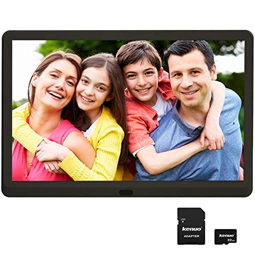 Digital Photo Frame 10 inch with 32GB SD Card, Kenuo 1920x1080 High...