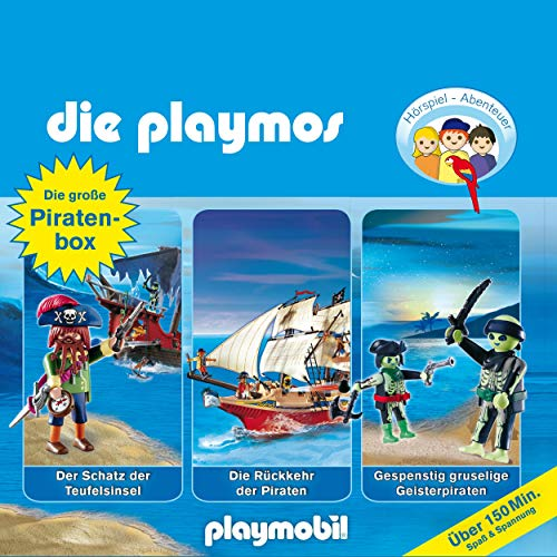 Die große Piraten-Box. Das Original Playmobil Hörspiel: Die Playmos 1, 16, 22