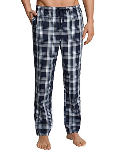 Schiesser Men\'s Mix & Relax Pyjama Bottoms, Blue (Dark Blue-gem. 835), Small