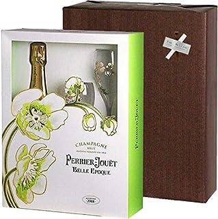 【ラッピング込】 ペリエ・ジュエ ベル・エポック シャンパーニュ 750ml & グラスギフト (泡1、グラス2)並行品 ワイン ギフト ワイングラス 結婚祝 誕生日 グラス付き プレゼント シャンパン ギフトセット 女性 男性 お酒 バレンタイン