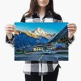 Destination Vinyl Poster A3| Lukla Airport Khumbu Nepal Fly