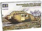 world war 2 german tanks - Master Box British Male MK 1 Tank Somme Battle 1916 Military Land Vehicle Model Building Kit (1:72 Scale)