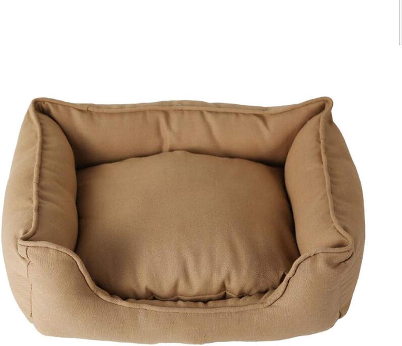 FERZA petsuppliesmisc All Pet Solutions Warm Luxury Dog BedHound ComfortBedDarkBrown (Size   S)