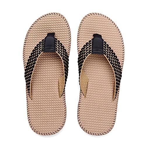 Zapatillas De Verano, Sandalias De Mujer Baratas, Cómodo, Zapadas De Pie, De Techo Suave De Tela Suave, Sandalias De Playa De Vacaciones De Verano(Size:44,Color:B)