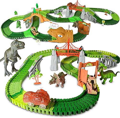 Product Image of the HOMCENT Dinosaur Race Track Car Toy Set for 3 4 5 6 7 8+ Years Old Boys and...