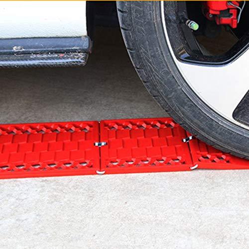 JIAHONG Cadenas de neumáticos de Cadenas 2pcs Camiones Car-Styling nieve for ruedas de coche plegable antideslizante Plat barro Neumáticos cadena de protección de seguridad Accesorios for automóviles