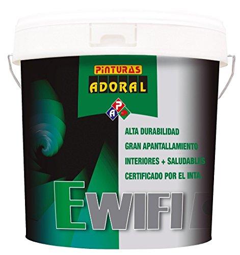 Adoral - Pintura Anti Radiaciones EWIFI 4 L. Revestimiento electro-conductor ideal para la protección frente a la radiación de alta y baja frecuencia.