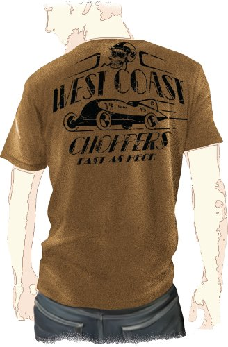 WCC West Coast Choppers T-Shirt Fast As Hack braun-S