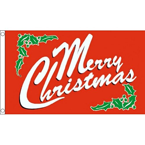 AZ FLAG Bandiera Buon Natale 150x90cm - Bandiera Auguri di Merry Christmas 90 x 150 cm