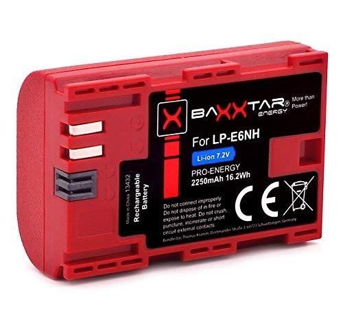 Baxxtar Pro Akku LP-E6NH (2250mAh) auch kompatibel mit Canon R5 R6