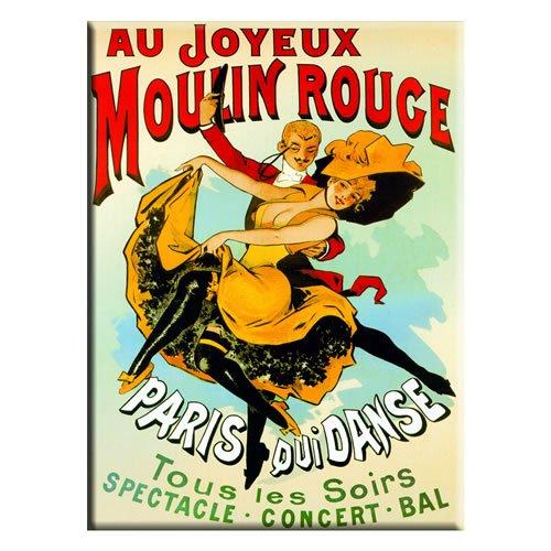 Souvenirs de France - Magnet Métal Rétro 'Moulin Rouge'