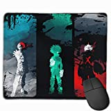 Mouse Pad with Designs, Anti Slip My Hero Academia Mouse Mat for Computer, Laptops Natural Rubber Mouse Mat Gaming Mouse Pad 11.8 X 9.8 inch