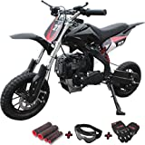 X-PRO 40cc Kids Mini Dirt Bike Pit Bike Dirt Bikes Gas Power Bike Off Road Motorcycle with Gloves, Goggle and Handgrip,Black