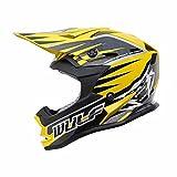 Wulfsport Kids Advance Motocross Moto Casco Off Road Quad Bike Omologato ECE2205   Giallo S (47-48cm)