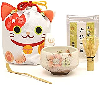 三毛猫 お招き 巾着 一服5点セット ほんぢ園 茶道具 日本 土産