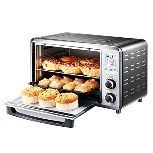 DULPLAY 30L Mini Toaster Oven,Best Convection, Digital Dining,Includes Broil Rack,Countertop Oven Digital Polished Stainless Toast Home Kitchen-silvery 46.2x40x30cm(18x16x12inch)