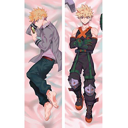 Diuangfoong Funda de almohada para el cuerpo japonés Hot My Hero Academia Bakugou Katsuki suave y acogedora SO169 35,56 x 99 cm
