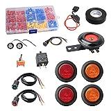 NTHREEAUTO UTV ATV Street Legal Kits DIY SXS LED Turn Signals Compatible with Golf Cart, Dune Buggy, Polaris or 4x4 Project
