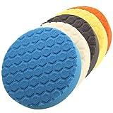 Mackur Esponjas de pulido para coche, herramientas de pulido, esponjas para pulidora, 180 mm, 5 unidades