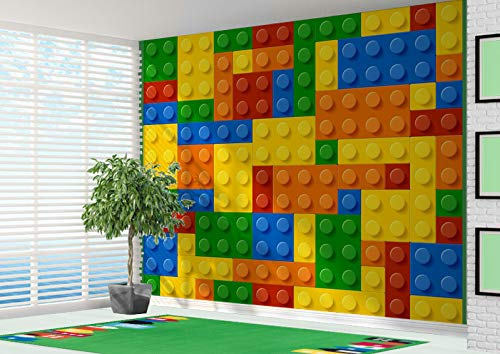 3D Building Blocks Toy Bricks Wallpaper Wall Mural - 2XL