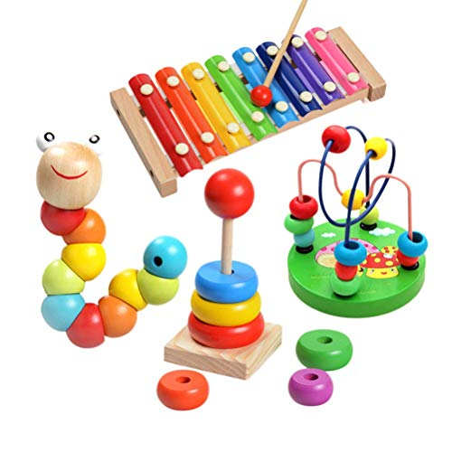 Soota Musical Instruments Toy Xylophone for babies, Holiday/Birthday Gift, Wooden Musical Instrument with Bright Multi-Colored Bars and Child-Safe Mallets (Educational Toys)