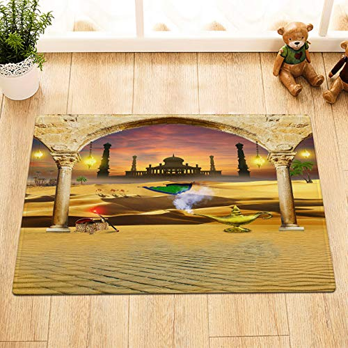 Palacio de la lámpara de Aladino La Puerta deentradadelaalfombra delbañoesantideslizante y fácil de Limpiar, 40X60cm,imprescindible para Uso doméstico.