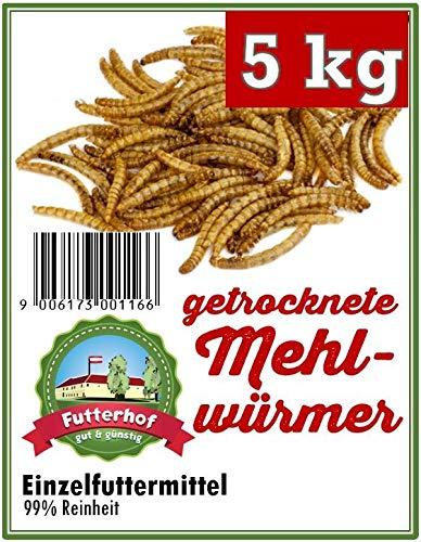 Futterhof getrocknete Mehlwürmer 5 kg, GRATIS Versand mit DHL