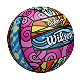 Wilson Sporting Goods Graffiti Volleyball- Pink/Blue/Yellow,1 Pack - OS,WTH4634ID