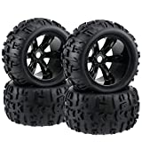 FPVERA 4PCS 17mm Hub Wheel Rim Tires Tyre for 1/8 1:8 Redcat Hsp Kyosho Hobao Hongnor Team Losi GM DHK HPI Truggy Monster Truck