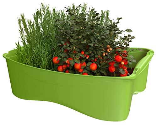 U-greeny Untersetzer Sottovaso multibox per fioriera rialzata, per balconi, Giardino e terrazza, Sistema di drenaggio dell'Acqua Integrato, Resistente alle intemperie, Colore: Verde