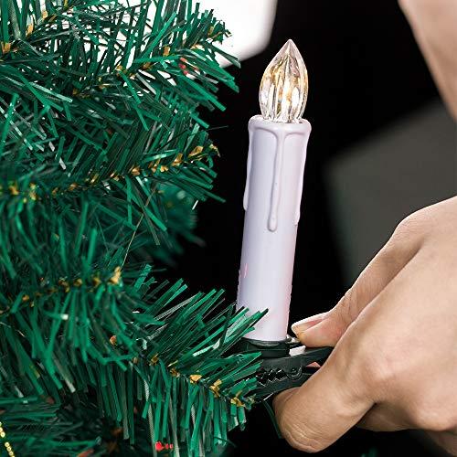 xingguang Velas sin llama de Año Nuevo/Navidad LED Velas sin llama para el hogar, cena, fiesta, árbol de Navidad decoración lámpara (color: FP01 20 piezas)