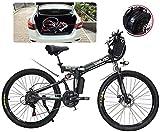 Bicicleta eléctrica de nieve, Adultos plegables bicicletas eléctricas comodidad bicicletas híbridas reclinadas / bicicletas de carretera de 26 pulgadas Neumáticos de montaña Bicicleta eléctrica de mon
