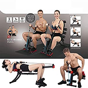 WINBOX Abdominal Exercise Machine, Multi-functional 22 in 1 Home Gym Equipment for AB Workout and Core Strength Training, Adjustable Rowing Machine for Home Gym.
