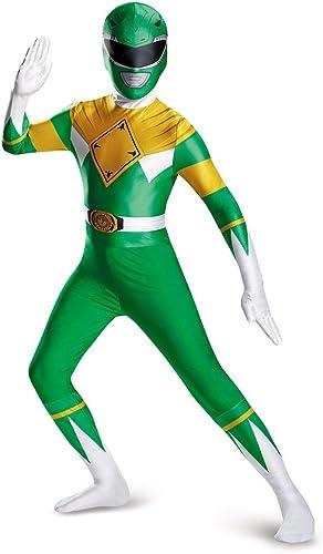 Disguise Men's Grün Ranger Bodysuit Costume Teen