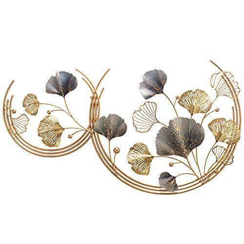 QULONG Metalen bloem blad muur sculpturen decoratieve smeedijzeren muur opknoping bank achtergrond, kunst creatieve…