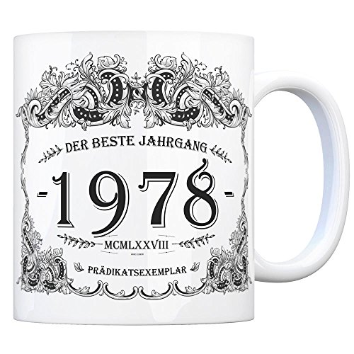 trendaffe - 1978 der Beste Jahrgang Kaffeebecher - EIN tolles Geschenk zum Geburtstag für Wein Liebhaber und alle die im Jahr 1978 geboren sind.