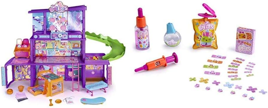 The Bellies - Bellies' House, Casa de Los Bellies para Niños y Niñas a Partir de 3 Años, Multicolor (Famosa 700015271) + Bellies- Kit de Cuidados para muñecos bebé (Famosa 700014343)